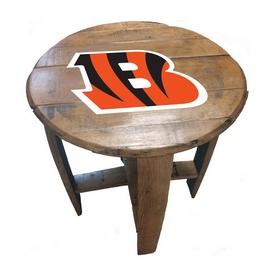 Cincinnati Bengals Oak Barrel Table
