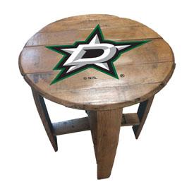 Dallas Stars Oak Barrel Table