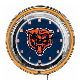 "Chicago Bears 14"" Neon Clock"