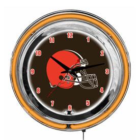 "Cleveland Browns 14"" Neon Clock"