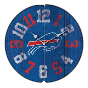 BUFFALO BILLS VINTAGE ROUND CLOCK
