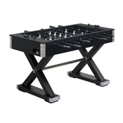 Xavier Foosball Table in Black with Chrome Accent