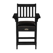 Imperial Premium Spectator Chair with Drawer, Black