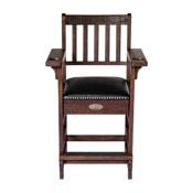 Imperial Premium Spectator Chair with Drawer, Dark Weathered Chestnut