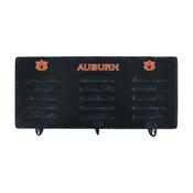 Auburn University 3 Hook Metal Coat Rack