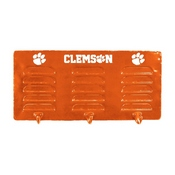 CLEMSON UNIVERSITY 3 HOOK METAL COAT RACK