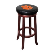 CLEMSON UNIVERSITY WOODEN BAR STOOL