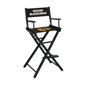 Chicago Blackhawks Bar Height Directors Chair