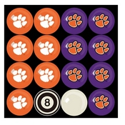 CLEMSON UNIVERSITY HOME VS AWAY BILLIARD BALL SET