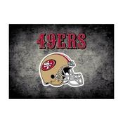 San Francisco 49ers 4'x6' Distressed Rug