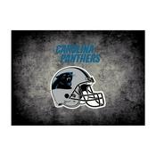 Carolina Panthers 4'x6' Distressed Rug