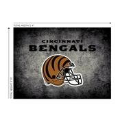 Cincinnati Bengals 4'x6' Distressed Rug