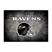 Baltimore Ravens 4'x6' Distressed Rug