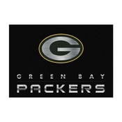 GREEN BAY PACKERS 4X6 CHROME RUG