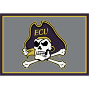 Eastern Carolina University 6x8 Spirit Rug