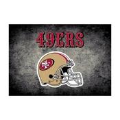 San Francisco 49ers 6'x8' Distressed Rug
