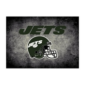 NEW YORK JETS 6X8 DISTRESSED RUG