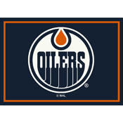 Edmonton Oilers 8X11 Spirit Rug