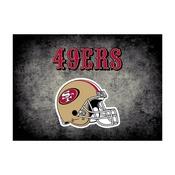 San Francisco 49ers 8'x11' Distressed Rug