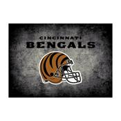 Cincinnati Bengals 8'x11' Distressed Rug