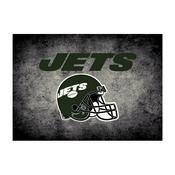 NEW YORK JETS 8X11 DISTRESSED RUG