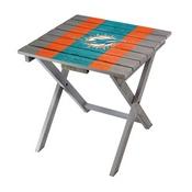 MIAMI DOLPHINS FOLDING ADIRONDACK TABLE