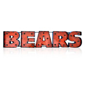 Chicago Bears Lighted Recycled Metal Sign