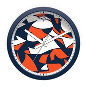 Denver Broncos Modern Clock