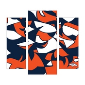 Denver Broncos Modern 3 Piece Wall Art