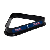 ATLANTA BRAVES PLASTIC 8 BALL RACK