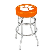 CLEMSON UNIVERSITY CHROME BAR STOOL