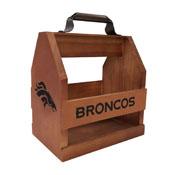 Denver Broncos Wood Bbq Caddy
