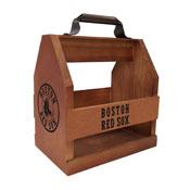 Boston Red Sox Wood Bbq Caddy