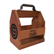 Chicago Cubs Wood Bbq Caddy