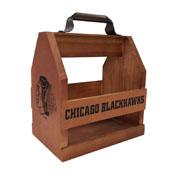 Chicago Blackhawks Wood Bbq Caddy
