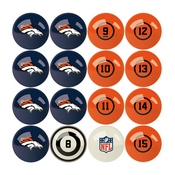 Denver Broncos Billiard Balls With Numbers