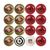 San Francisco 49Ers Billiard Balls With Numbers