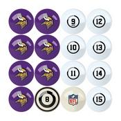 Minnesota Vikings Billiard Balls With Numbers