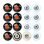 Cleveland Browns Billiard Balls With Numbers