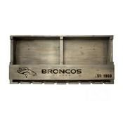 Denver Broncos Reclaimed Bar Shelf