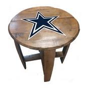 Dallas Cowboys Oak Barrel Table