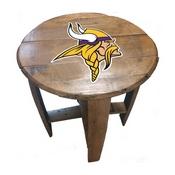 Minnesota Vikings Oak Barrel Table