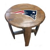 New England Patriots Oak Barrel Table
