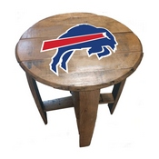 Buffalo Bills Oak Barrel Table
