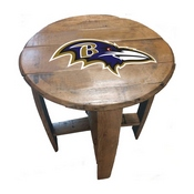 Baltimore Ravens Oak Barrel Table