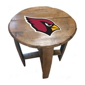 Arizona Cardinals Oak Barrel Table