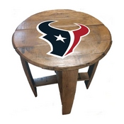 Houston Texans Oak Barrel Table