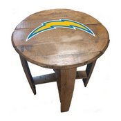 Los Angeles Chargers Oak Barrel Table