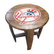 New York Yankees Oak Barrel Table