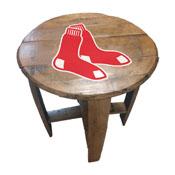 Boston Red Sox Oak Barrel Table